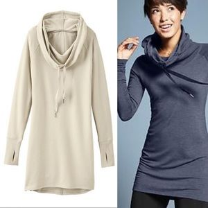 Athleta Intention Cover Up Size XS Oatmeal Heather